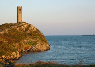 Rock-Island-watch-tower-at-sunset-2